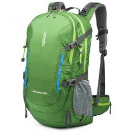 Green Lightweight Waterproof Hiking Bag 40L Large Capacity Hiking Travel Backpack