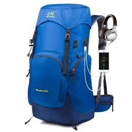 50L Waterproof Lightweight Hiking Backpack with Rain Cover