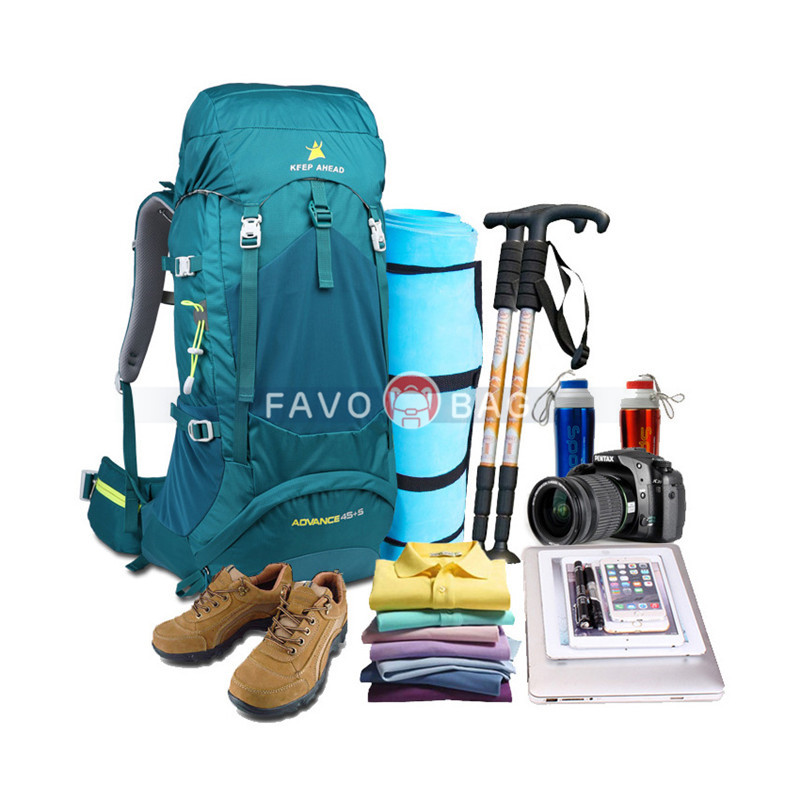 45+5L Lightweight Waterproof Hiking Backpack for Men and Women