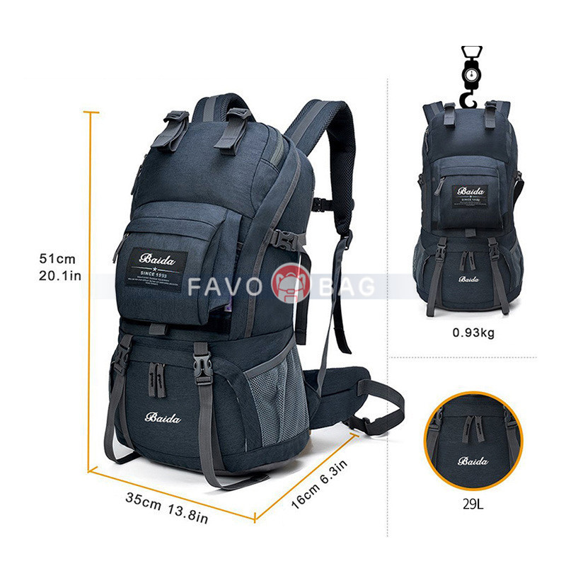 50L Mountaineering Backpack with 45L+5L Rain Cover