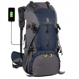 USB Outdoor Mountaineering Bag Shoulder Men and Women 60L Large Capacity
