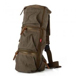 Men's Large Hiking Canvas Backpack School Laptop Bag Camping Travel Rucksack