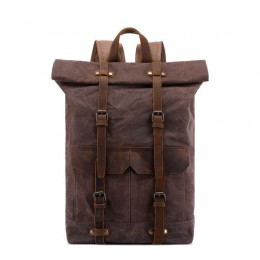 Cool Retro Outdoor Backpack Canvas Travel Bag Hiking Bag Top Level