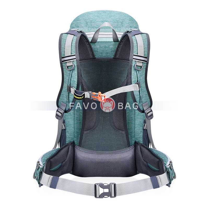 50L Green Outdoor Mountaineering Bag Hiking Leisure Backpack