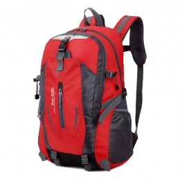 Red Lightweight Water Resistant Backpack with Adjustable Chest Strap for Hiking Climbing Biking