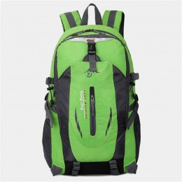 Green Lightweight Water Resistant Backpack with Adjustable Chest Strap for Hiking Climbing Biking