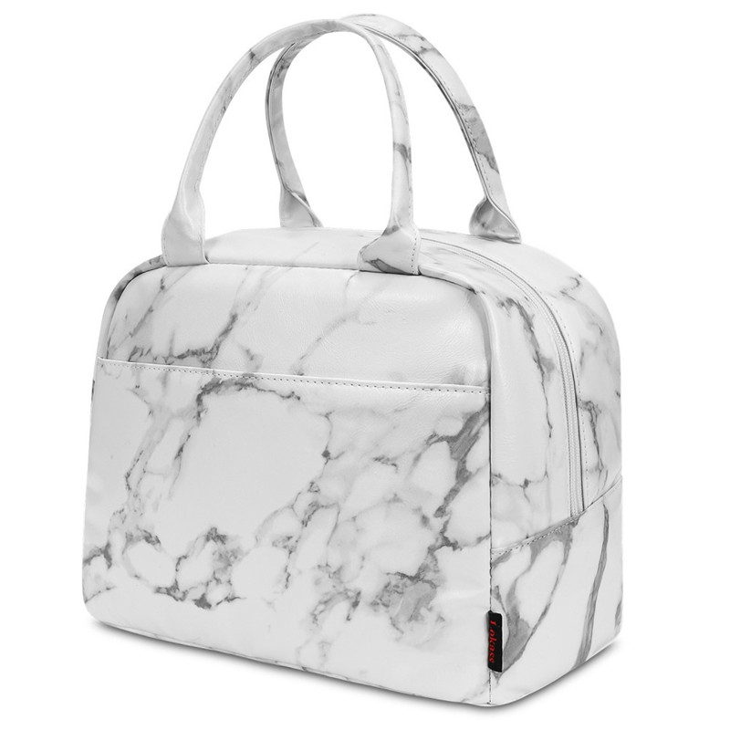 Floral Lunch Bag Cooler Bag Women Tote Bag Insulated Lunch Box Water-resistant Thermal Lunch Bag Soft Liner Lunch Bags for School