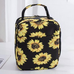 Sunflower Lunch Box Insulated Cooler Lunch Box for Primary School Middle School