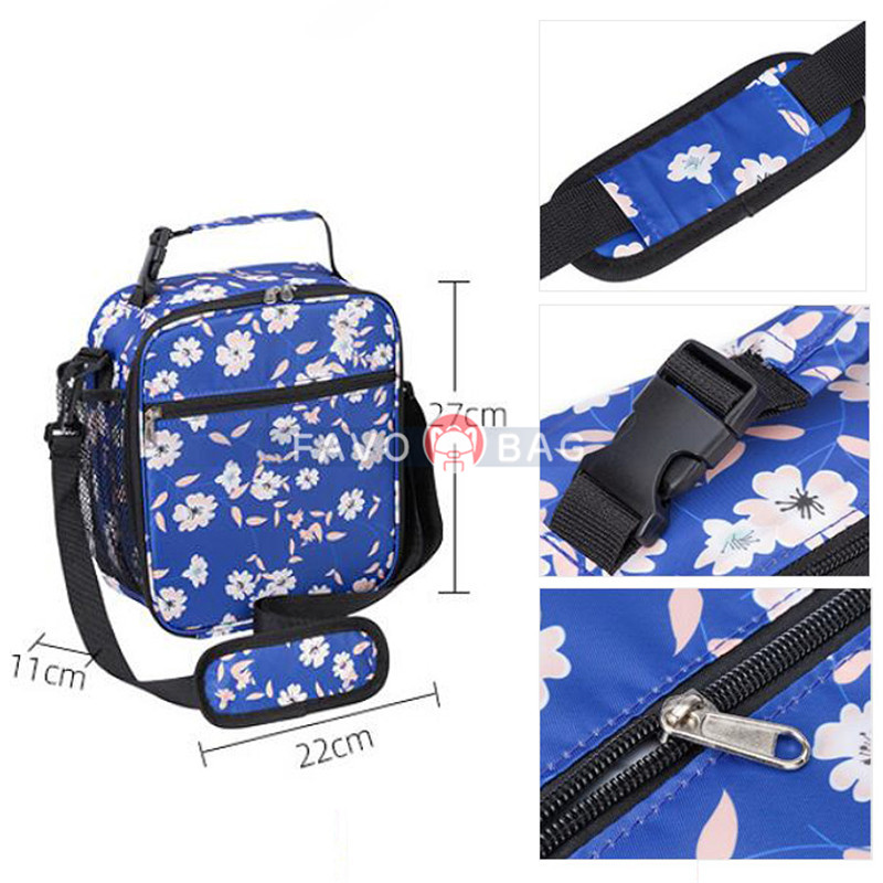 Large Capacity Lunch Box for Kids Fun Printing Insulated Oxford Waterproof Lunch Bag