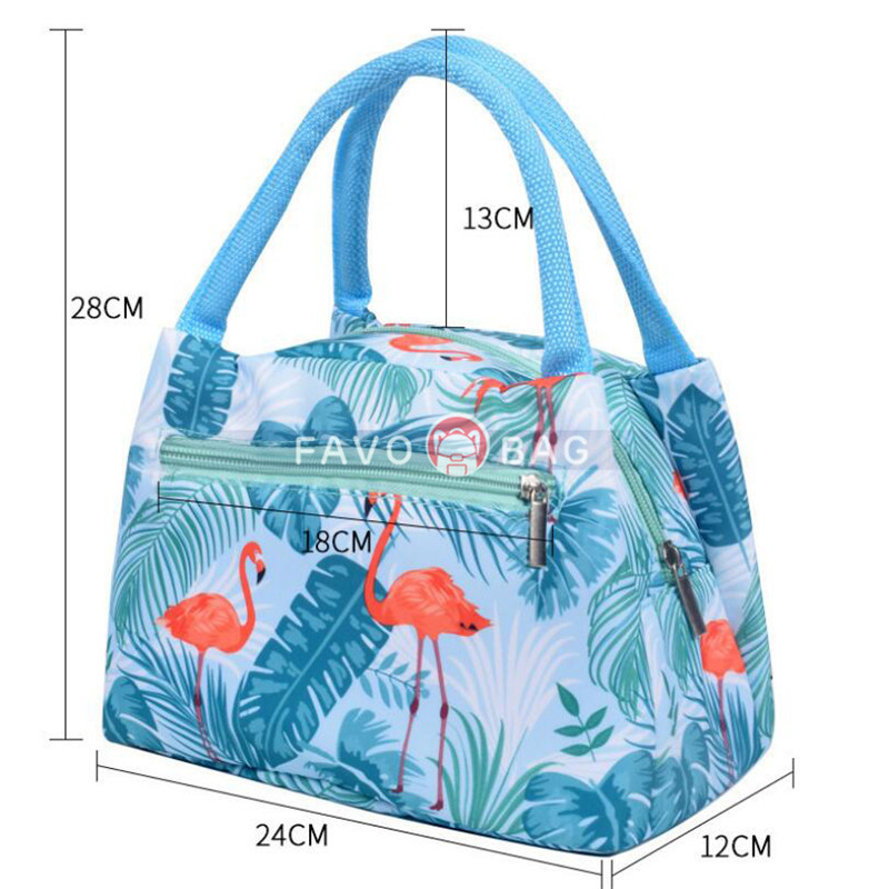 Cute Animal Prints Lunch Bag for School Girls Waterproof Insulated Lunch Bag for Working Women Adults