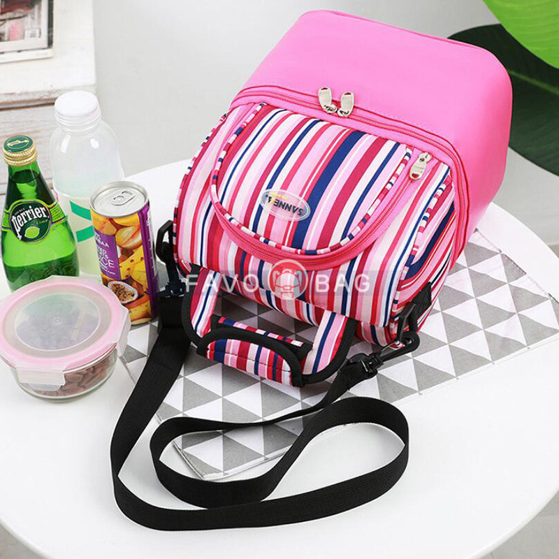 Reusable Lunch Box Leakproof Cooler Tote Bag Freezable Lunch Bag Insulated Lunch Bag