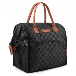 Insulated Lunch Box Wide-Open Lunch Tote Bag