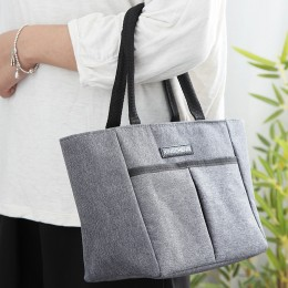 Lunch Box With Front Pocket For Office Work Picnic Shopping