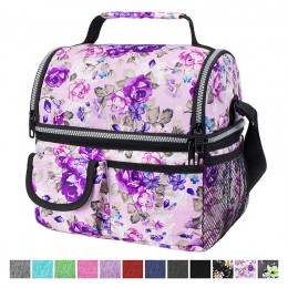 Insulated Dual Compartment Lunch Bag For Men/Women