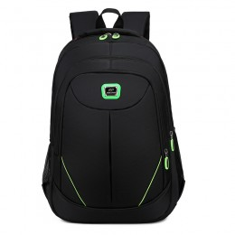Green Backpack For High School Teens Slim Anti-Theft Travel Bag With Usb Charging Port