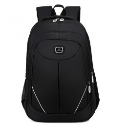 Black Backpack For High School Teens Slim Anti-Theft Travel Bag With Usb Charging Port