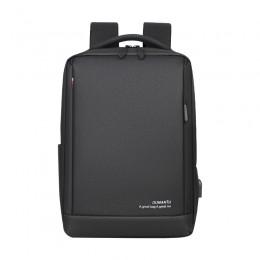 Usb Anti Theft Business Laptop Backpack Slim College Backpack Black