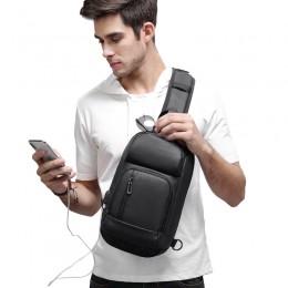 Sling Backpack Shoulder Bag With Usb Waterproof Lightweight