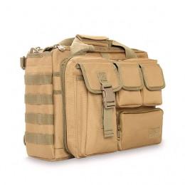 Khaki Men'S Military Laptop Messenger Bag Multifunction Computer