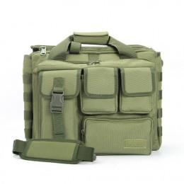 Green Men'S Military Laptop Messenger Bag Multifunction Computer Shoulder Handbags Pilot Bag