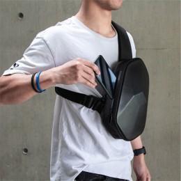 Black Sling Backpack Waterproof Crossbody Shoulder Bag Causal Daypack Chest Bag
