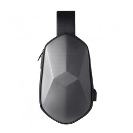 Grey Sling Backpack Waterproof Crossbody Shoulder Bag Causal Daypack Chest Bag