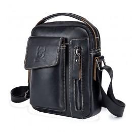 Black Men'S Small Shoulder Bag Retro Lightweight Everyday Satchel Bag