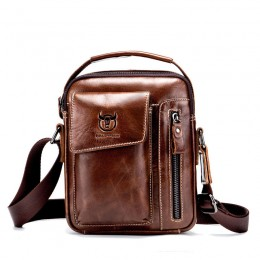 Dark Brown Men'S Small Shoulder Bag Retro Lightweight Everyday Satchel Bag
