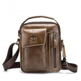 Brown Men'S Small Shoulder Bag Retro Lightweight Everyday Satchel Bag