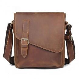 Handmade Men'S Leather Messenger Bag Shoulder Bag Leather Man Purse And Bags