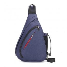 Blue Sling Bag Crossbody Shoulder Chest Backpack