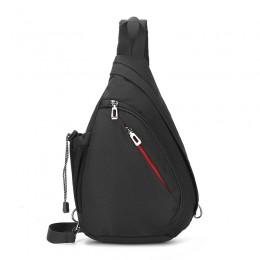 Black Sling Bag Crossbody Shoulder Chest Backpack