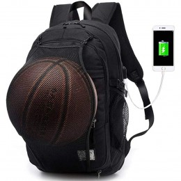 Black Anti Theft Water Resistant College Student School Bookbag