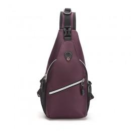 Purple Sling Backpack/Multipurpose Crossbody Shoulder Bag Travel Hiking Daypack