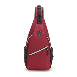Red Sling Backpack/Multipurpose Crossbody Shoulder Bag Travel Hiking Daypack