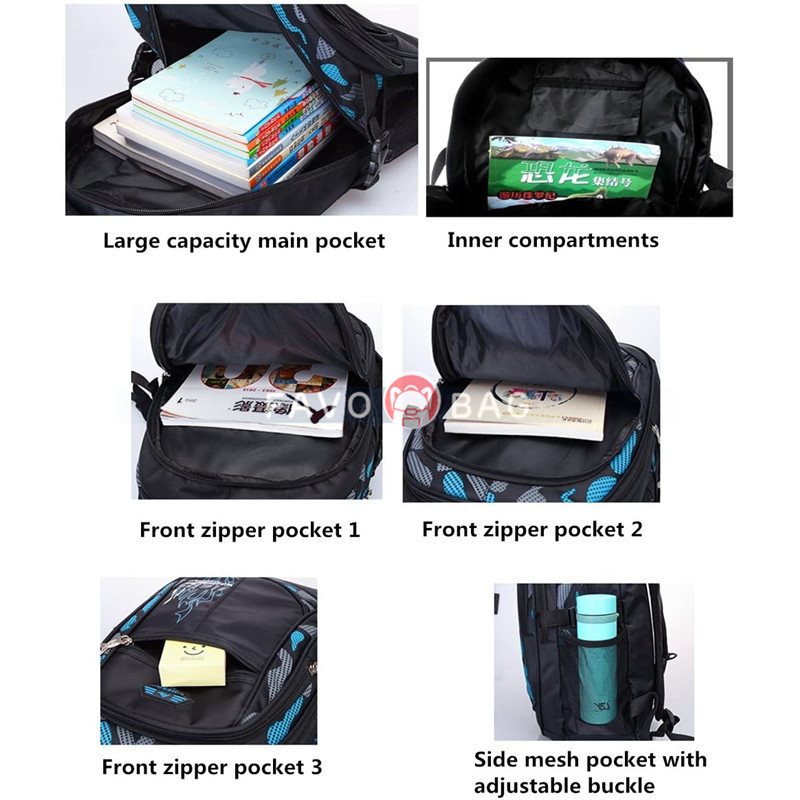 Camo Waterproof Primary School Backpack Bookbag for Teenage Boys Camouflage Schoolbag
