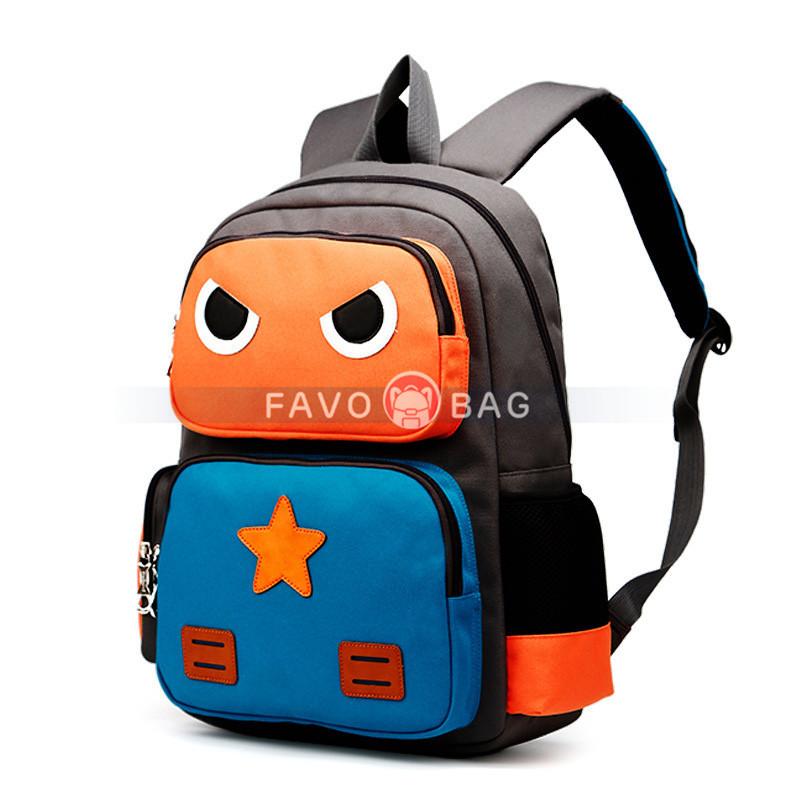 Cartoon Robot School Backpack Book Bag Travel Daypack for Men Women