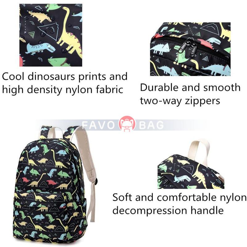 3Pcs Dinosaur Elementary Girls Boys Bookbag Rucksack Primary School Bag Backpack Set