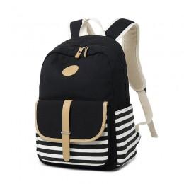 School Backpack for Kids Daypack Travel Bag with Side Pockets Black