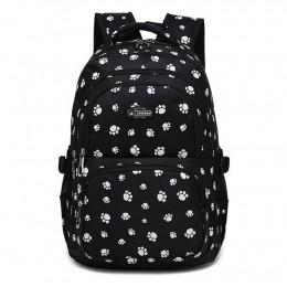 Dog Paw Prints Primary School Backpack Junior Schoolbag Bookbag for Teens Girls