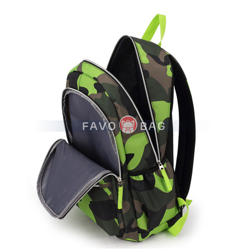 Camouflage Prints Backpack Primary School Bag Elementary Students Boys Book Bag