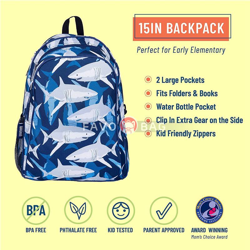 15 Inch Kids Backpack for Boys & Girls