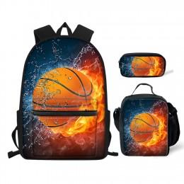 Teens Backpack Set 3 Piece Soccer Canvas Boys School Bags sets