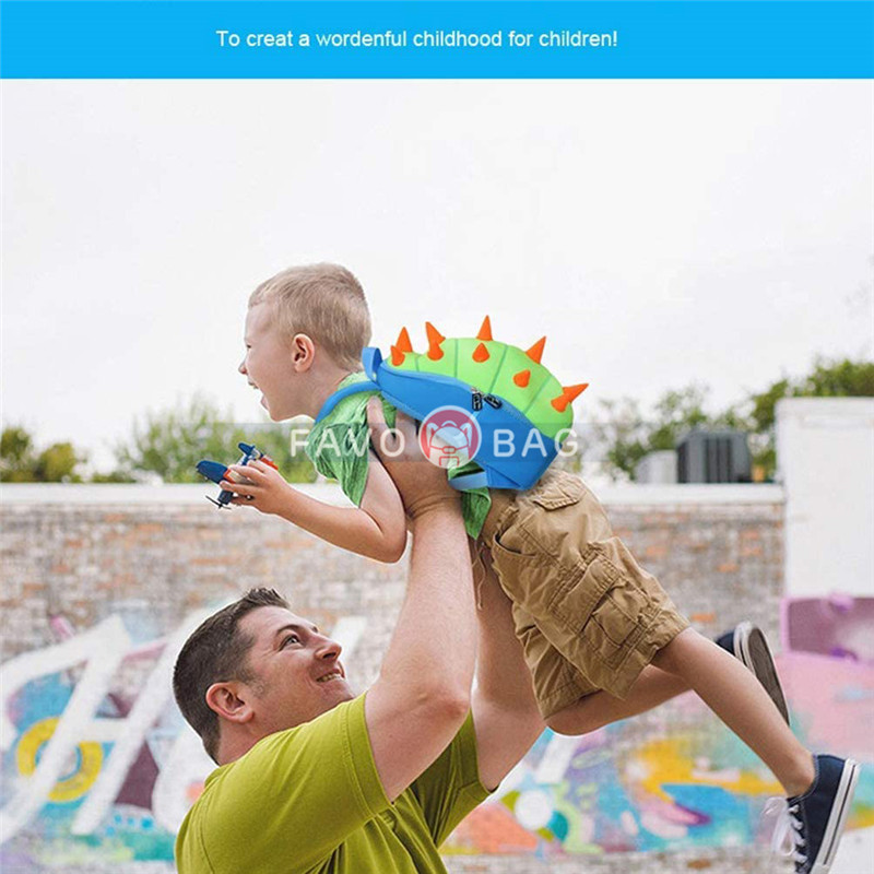 """Dinosaur Backpack 14"""" For Kids Toddlers Children Waterproof Pre School"""