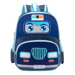 Kids Toddler Backpack with Police Car pattern for Preschool Daycare and Kindergarten Boys