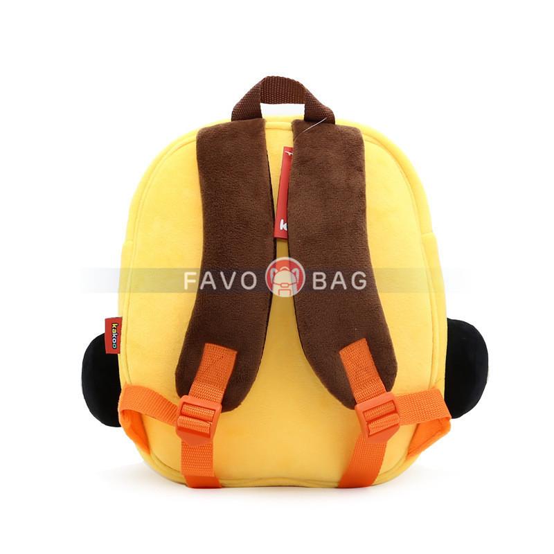 "10"" Car Preschool Bag Plush Cartoon Bookbag for Little Boys Girls Kids"
