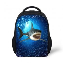 Shark Print Student School Bag