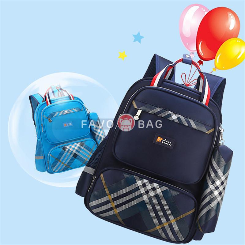 Elementary Kids'British Style Ultralight Backpack