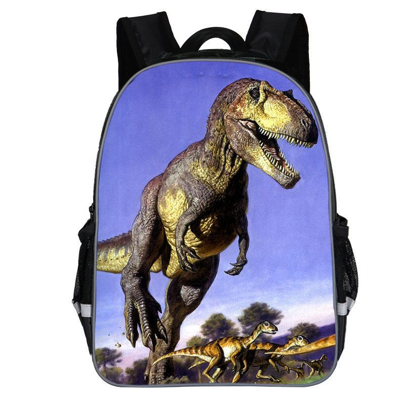 """Kids' Lovely 14"""" Cartoon Dinosaur Printed Backpack with Adjustable Strapes"""