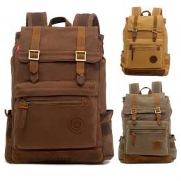 Men Big Laptop Backpack Durable Outdoor Travel Canvas Bag